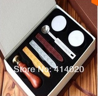 2014 Real Sealing Wax Stamp Stationary Store Hot Sale Personality Stamps, Ancient Wooden Box Seal Deluxe Collection Stamps(China (Mainland))