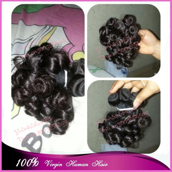 Top 7a grade 3pcs/lot #1b fully looking boom curls virgin peruvian aunty funmi human hair weaves free shipping<br><br>Aliexpress