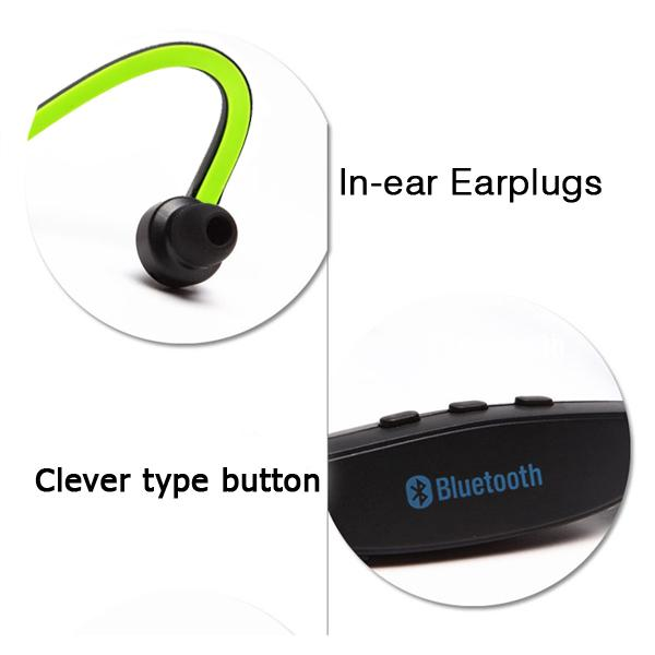 2015 Universal Sport Stereo Wireless Bluetooth 3.0 Headset Earphone Headphone for iPhone 5/4 for Samsung galaxy S3 S4 S5