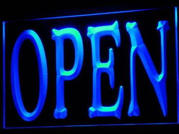 i645-b NEW OPEN Shop Bar Pub Restaurant LED Neon Light Sign Wholesale Dropshipping