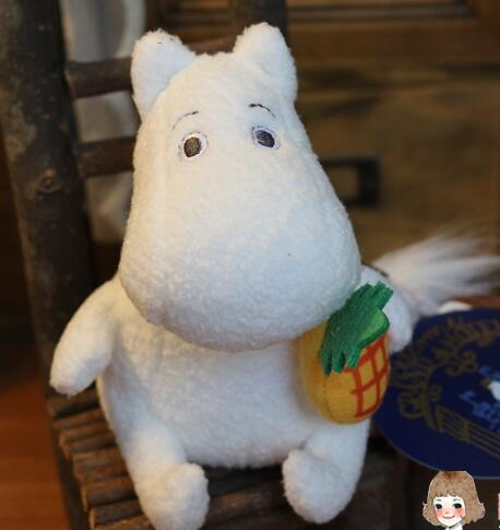 Moomin plush tiny doll 13cm(5 '') lovely cute soft doll baby toys holiday gifts for little girl bag decoration LH103(China (Mainland))
