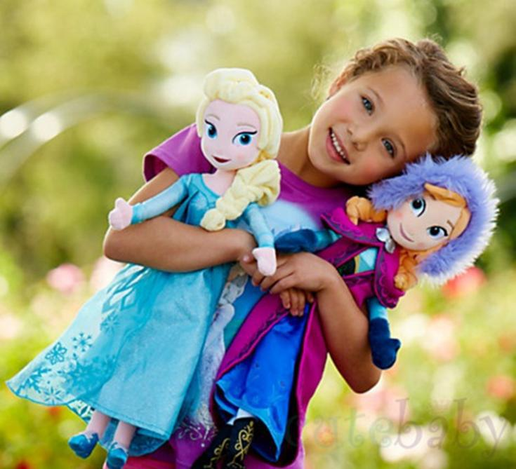 Hot Sale High Quality Plush Toy Snow Queen Princess 40cm Anna and Elsa Brinquedos Seven Olaf Big Hero 6 best toy for kids(China (Mainland))