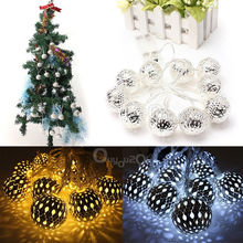 Hot Sale 10 LED 1.2m Fairy String Lantern Lights Battery Operated Ball Star Heart Shape Home Christmas Garden Decoration Lamp(China (Mainland))