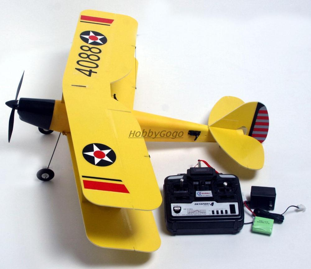 RC model airplane Tiger Moth EPS 800mm 4ch RTF Brush version Brushless Motor + Lipo battery Warbird full set DropShip Toy plane(China (Mainland))