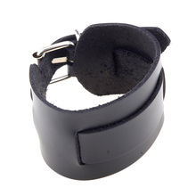 Men Vintage Cool Leather Buckle Adjustable Wristband Bracelet Punk Cuff Bangle Black Brown #76730(China (Mainland))