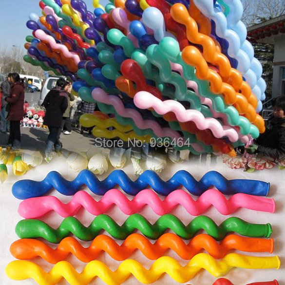 hot sale New Fashion 50Pcs/Pack Giant Rubber Helium Spiral Latex Balloons Wedding Birthday Party Decoration Ballons 84901(China (Mainland))