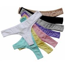 Plus Size XXXL Cotton Seamless Thong Underwear Women G-String Sexy Crotchless Panties Lingerie Intimate Tanga Calcinha