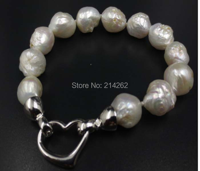 Gorgeous huge 11-14mm White natural FURROW Kasumi pearl bracelet S35#<br><br>Aliexpress