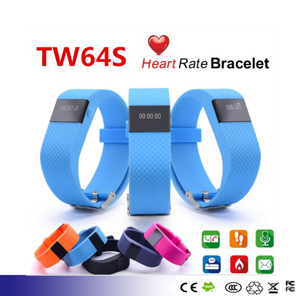 TW64S Heart Rate Monitor SmartBand TW64 Updated Pulse Measure Smart Band Sport Smart Wristband Health Fitness Tracker(China (Mainland))