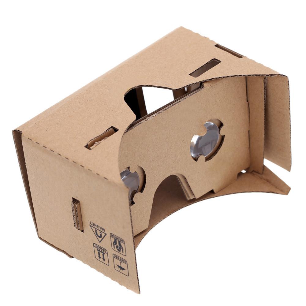 Virtual Reality VR Google Glasses Google Cardboard 3D Glasses for Mobile Phone 5.0 Screen + Adjustable Head Mout Strap Belt