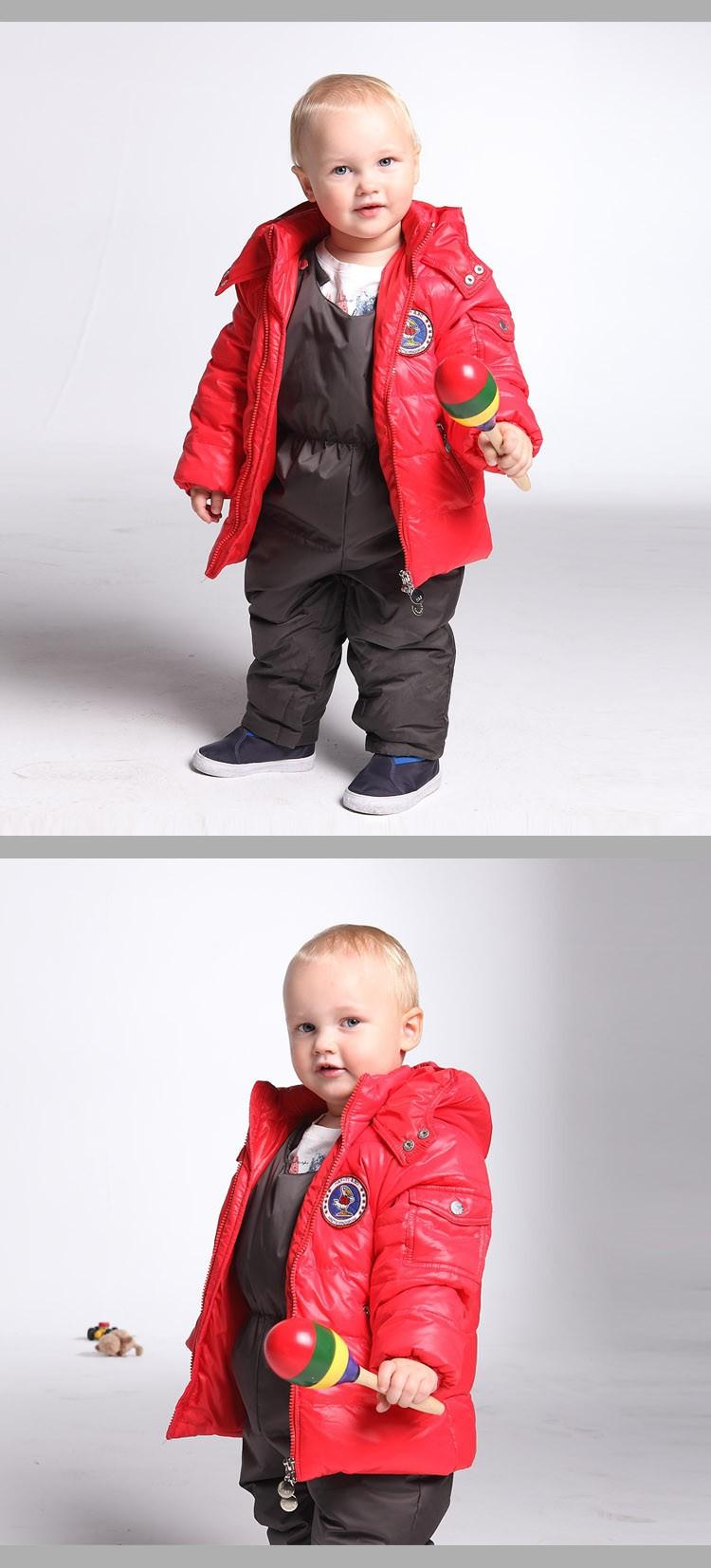 Скидки на Детские/малышей бренд пуховик детей мальчиков и девочек с капюшоном ребенок верхняя одежда зимняя одежда 0-3 лет старый