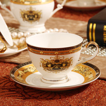 Slap up Continental bone china coffee cup set ceramic cup and saucer suit British Cup and
