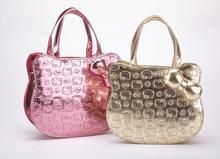 Free shipping wholesale 2014 new designers mini cute bag children hello kitty handbag kids tote girls handbag women mini bag(China (Mainland))