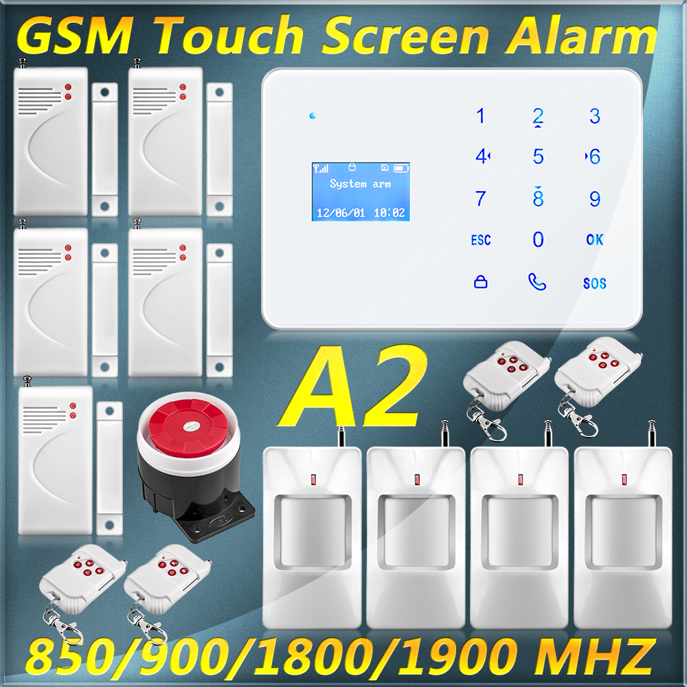 English Russian Spanish French version Andriod IOS APP Remote Control Wireless Home Security GSM Alarm System(China (Mainland))
