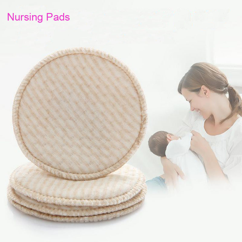 4Pcs Lot Reusable Washable Breast font b Feeding b font Baby Nursing Pads Leakproof Anti Overflow