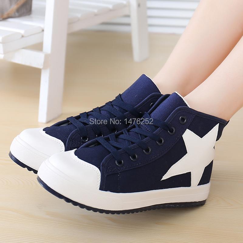 2014 brand new high canvas shoes leisure platform