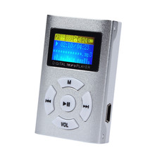 2017 3.5mm Stereo Jack USB Mini Clip MP3 Player LCD Screen Support 32GB Micro SD TF Card MP3 Music Player Silver(China (Mainland))