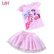 Buy LZH Toddler Girls Clothing Sets 2017 Summer Kids Girls Clothes Set Print T-Shirt+Tutu Skirt Girls Sport Suit Children Clothes for $6.26 in AliExpress store