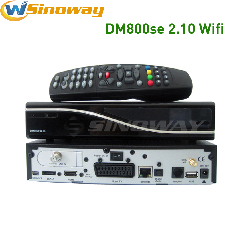 5pcs dm 800 hd se or dm 800hd se sim2.10 card wifi internal DVB-S2 Satellite tv decoder 400mhz processor set top box dm800 se(China (Mainland))