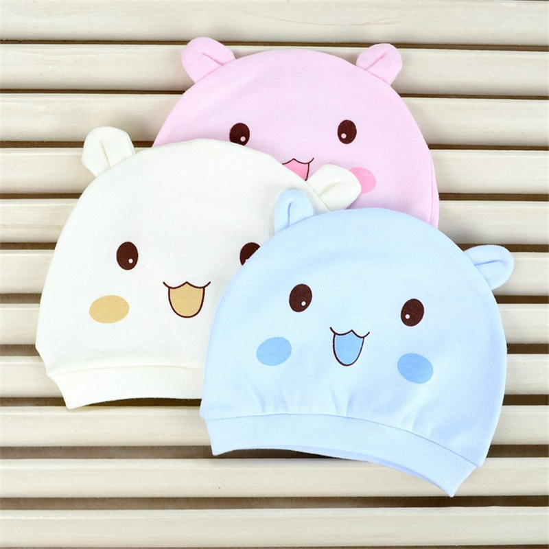 [Mumsbest] 2016 Baby Newborn Hats Spring &Summer Cute 100% Cotton Unisex Infant Hat Girl & Boy Cute Caps For baby 0 - 3 Month(China (Mainland))