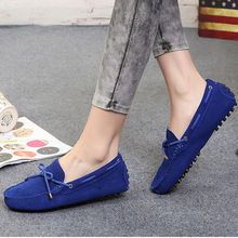100% Genuine leather Women flats New Brand Handmade Women Casual leather shoes Leather Moccasin Fashion Women Driving Shoes(China (Mainland))
