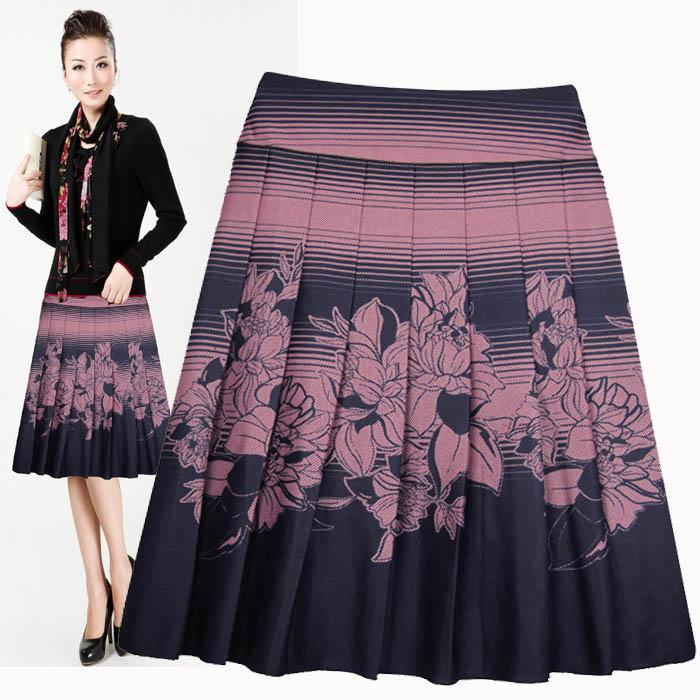 2015 New Customize High Waist Skirt Plus Size Pleated Skirt Women Casual Skirts(China (Mainland))