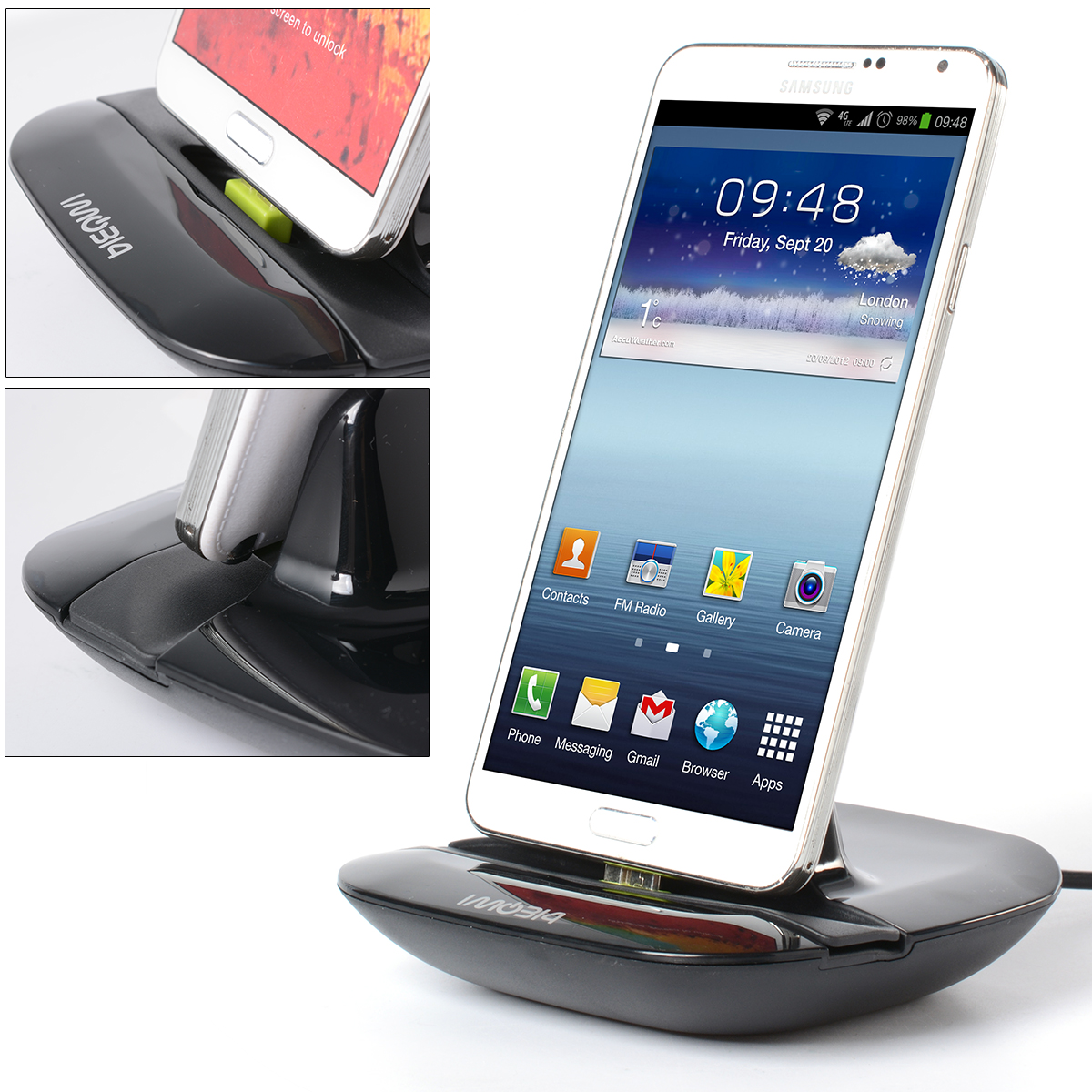 Charger Cradle Station Base Dock Stand For Samsung Galaxy S5/Note3 Edge BC441(China (Mainland))