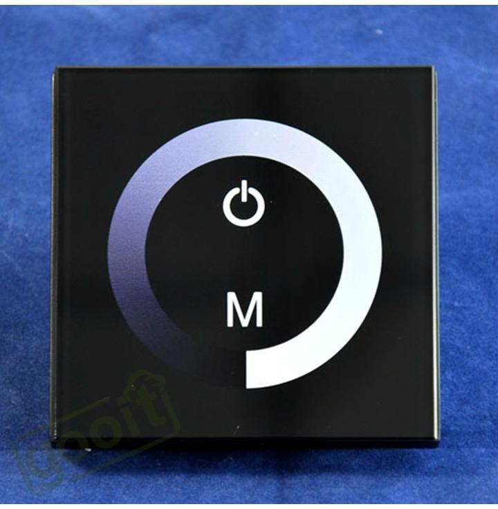 panel dimmer switch dc12v 24v for led strip rgb led lights bulbs. Black Bedroom Furniture Sets. Home Design Ideas