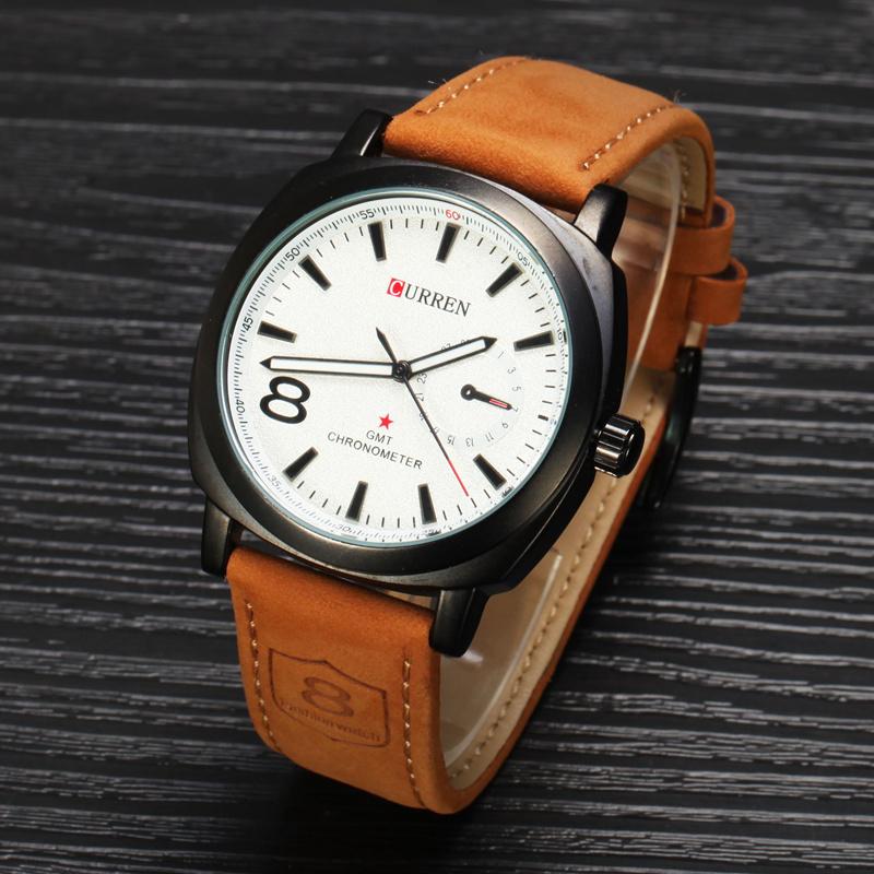 Гаджет  CURREN Brand Men Sport Watches Casual Leather Strap Watch Fashion Man Quartz Clock Military Watches MN4944 None Часы