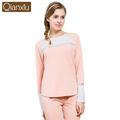 2016 Autumn Women Pajama Sets Full Sleeve Sleep Lounge Cotton Pajamas Round Neck Casual Pyjama 2