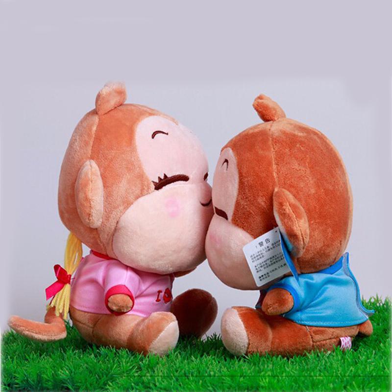 Wholesale 15cm yoyocici Lovers you laugh monkey doll plush toy hiphop Large monkey birthday gift kawaii stuffed toys(China (Mainland))