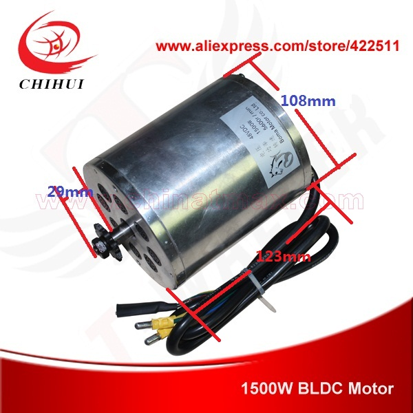 Фотография 1500W 48V Brushless Electric DC Motor 1500W Electric Scooter BLDC Motor BOMA Brushless Motor (Scooter Parts)