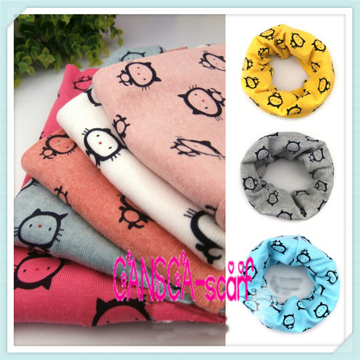 Kids Kawaii Scarf Boy Girl Cowl Circle Loop Scarves Hello Kitty Infinity Scarf Cotton Neck Warmer Ring Children Baby Accessories(China (Mainland))