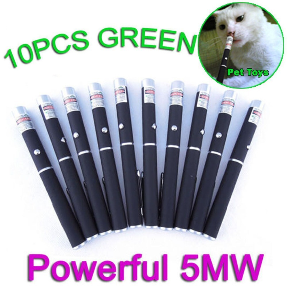 High Power 10XPC Powerful Military 2in1 Red Laser Pointer Pen Puntero Laser Verde With 5mw 650nm Visible Lazer +10X Star Cap(China (Mainland))