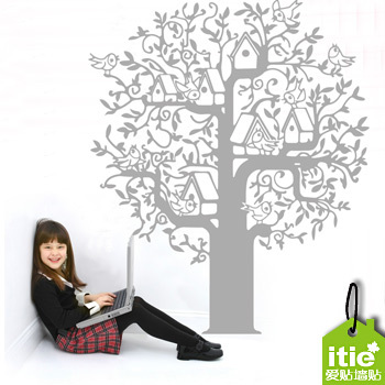 The tree of wisdom ultra fine lines off the sitting room the bedroom sofa LCD TV setting wall stickers(China (Mainland))