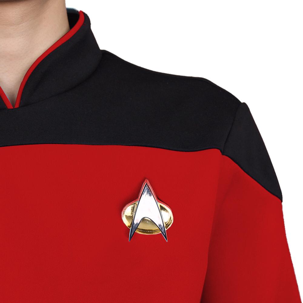 Star Trek TNG The Next Generation Red Yellow Blue Shirt Uniform Cosplay Costume For Men Coat Halloween Party (8)