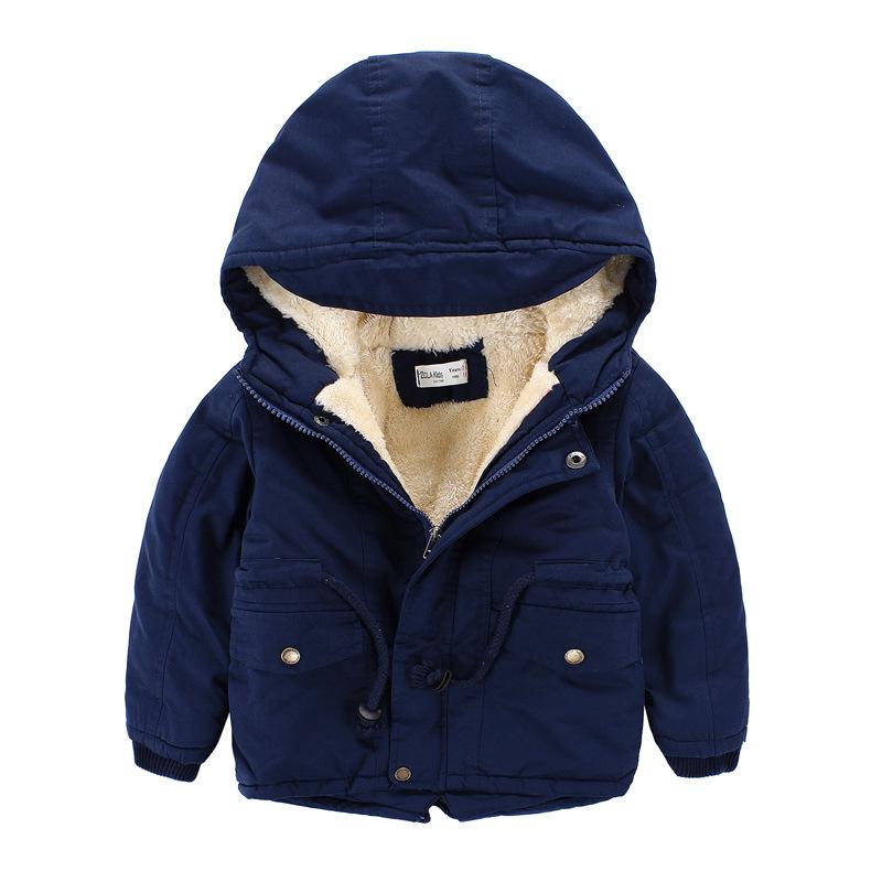 2015 New Autumn&Winter Warm Children Dow Coat Girls&Boy Coat Outerwear Kids Jacket Boys Overcoat Hooded Cotton Parka Jacket