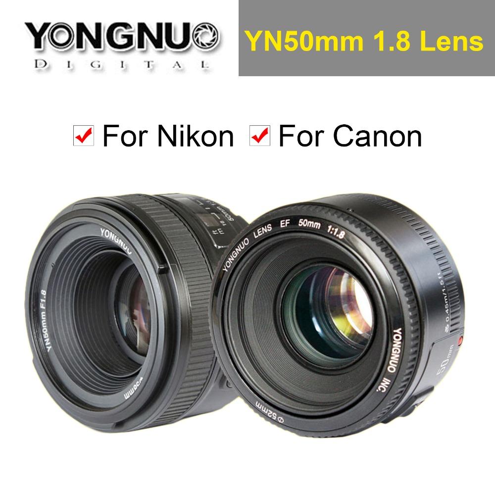 YONGNUO YN 50mm YN50mm F1.8 Lens Large Aperture AF/MF Auto Focus Fixed Lens Canon EOS Nikon DSLR Camera