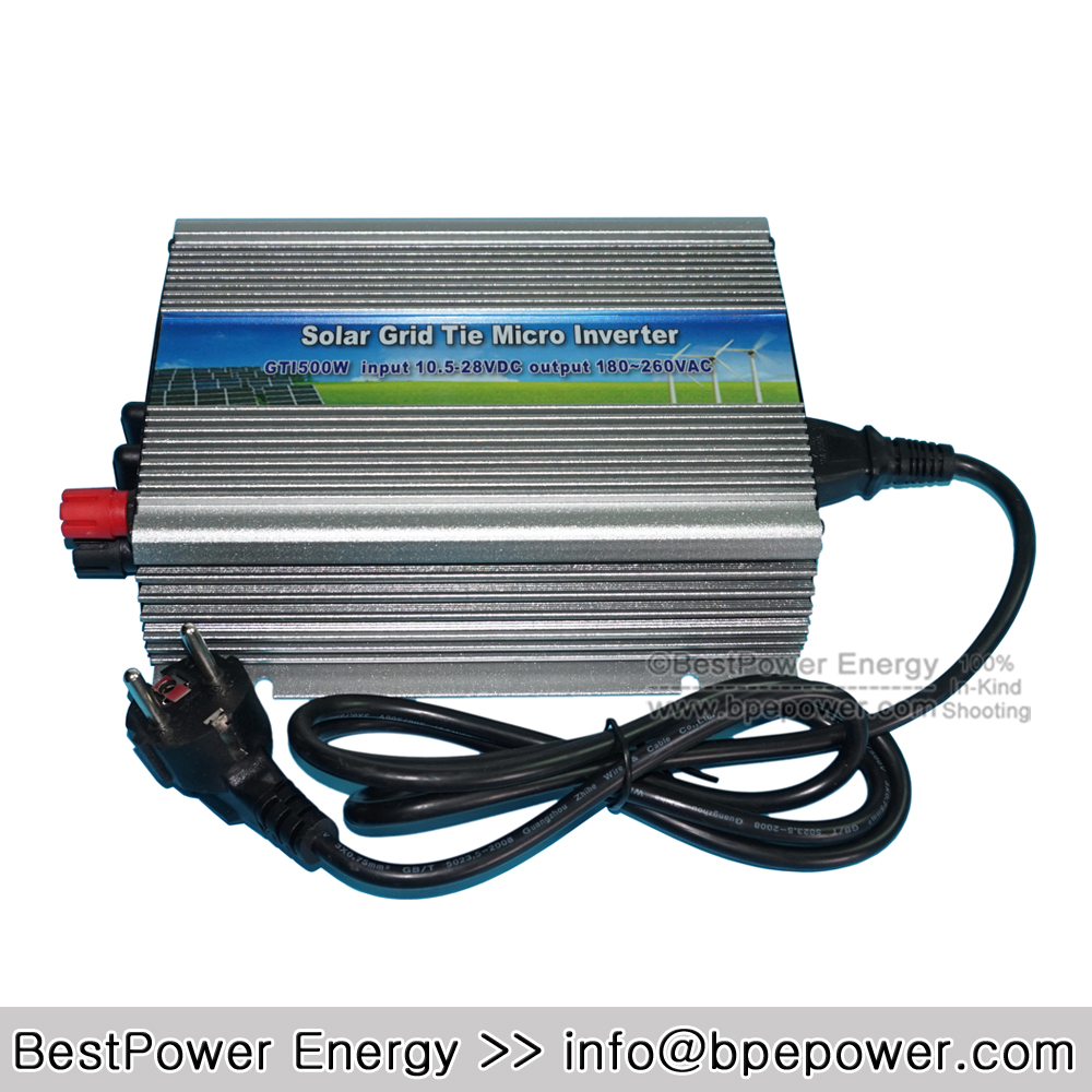 Top Selling 500W Grid Tie Micro Solar Inverter, 10.5~28V DC to AC 180~260V MPPT Pure Sine Wave Inversor for 620W 18V PV Module(China (Mainland))