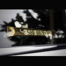 Newest Car Styling Luminous Temporary Parking Card With Suckers And Night Light Phone Number Card Plate Golden Silvery