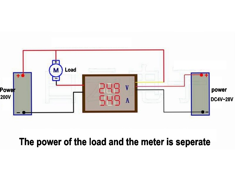 how to read ammeter diagram