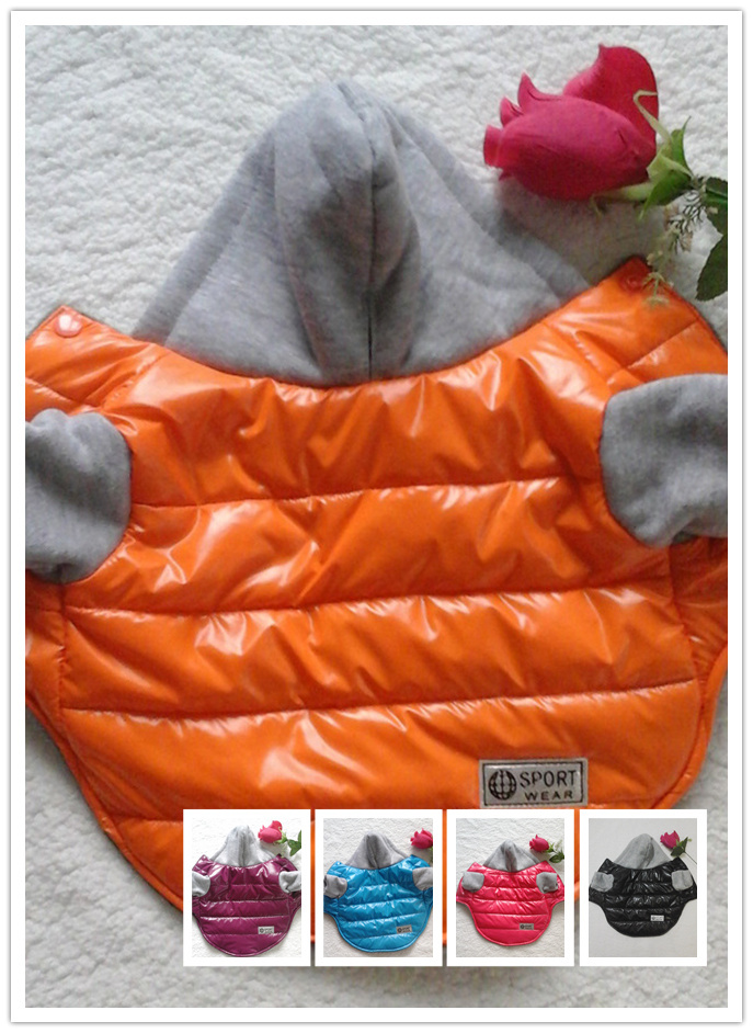 2015 New Clothing For Dogs 5Colors Pets Nylon Fabric Hood Jackets 6Sizes ropa perro chihuahua Products For Animals S112(China (Mainland))