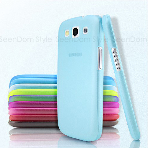 9 Colors/Lot Ultrathin Design 0.5mm Matt Frosting Skins Cases Covers For Galaxy S3 I9300 Samsung Cell Phone Accessories PCS301