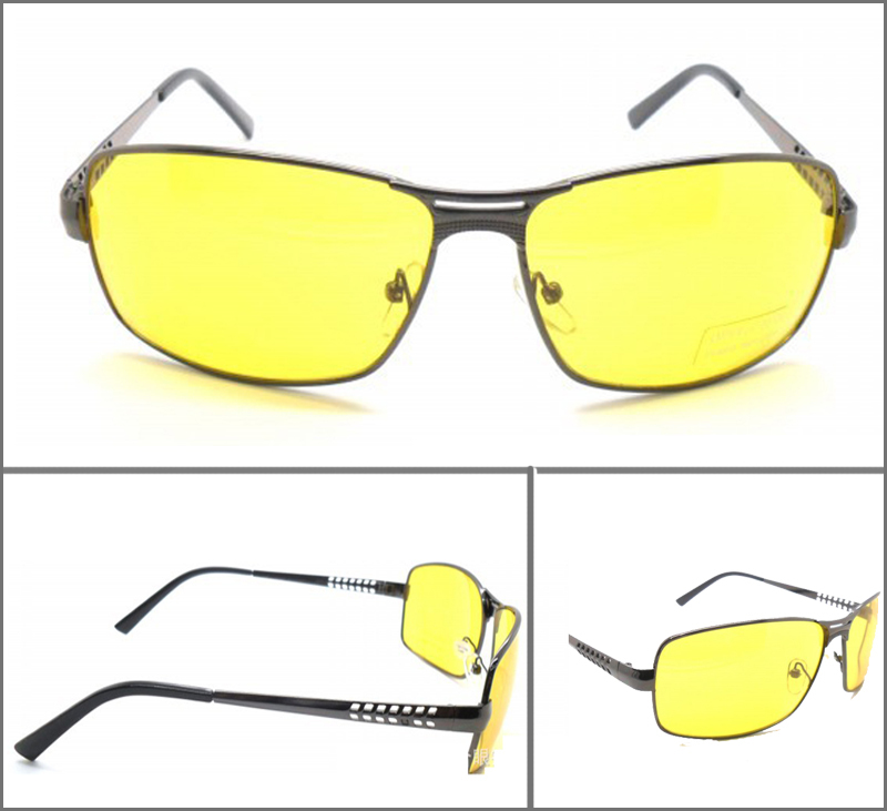 Fashion Frame Drive Polarized Yellow Glasses Men Night ...