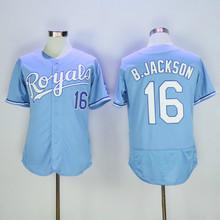 SexeMara 16 Bo Jackson Flexbase Jersey Blue White Gray(China (Mainland))