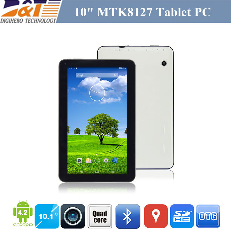 New Cheap 10 Inch MTK8127 Quad Core Tablet Pc Android 4.4 with GPS Bluetooth 4.0 1G 8G HDMI Dual Camera Tablets USA In Stock(China (Mainland))