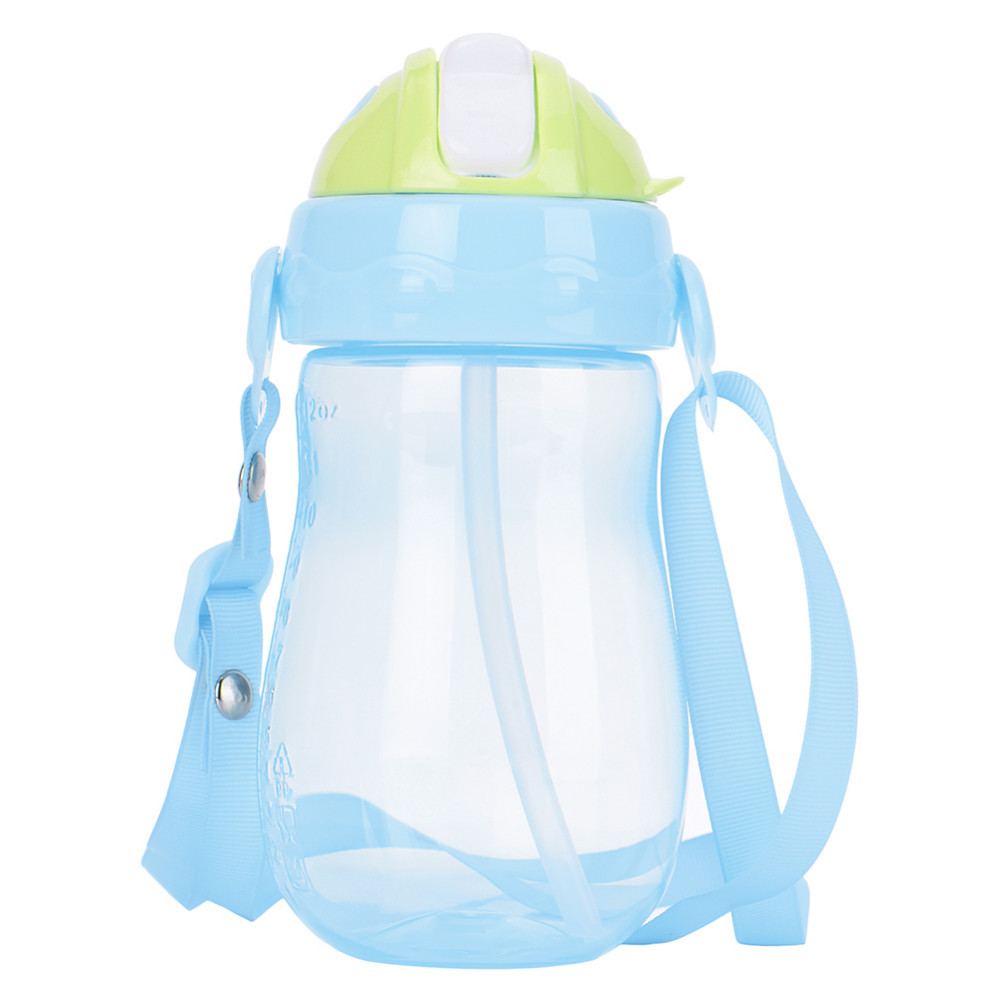 350ml Portable Kids Drinking Cup with Straw BPA Free PP Silicone Todder Child Drink Bottles Sloid Feeding Copo Tazas