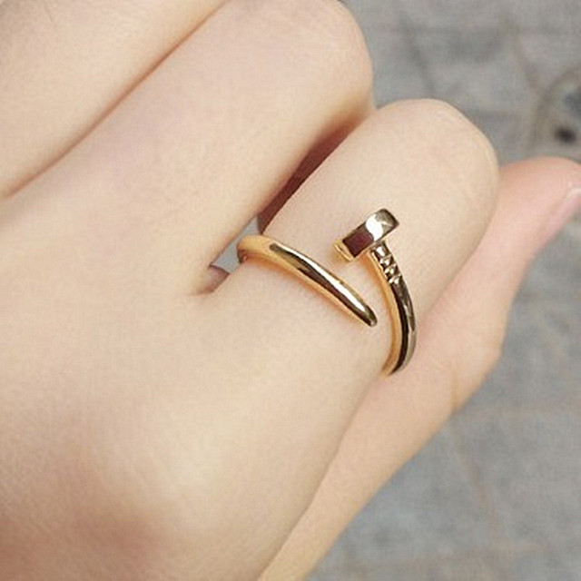 R235 Women Finger Rings Nail Shape Anel Anillos Fashion Jewelry Bijoux 2016 HOT Selling