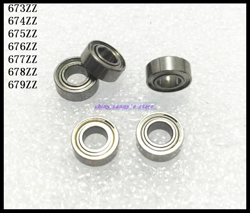 10pcs/Lot 675ZZ 675 ZZ 5x8x2.5mm Thin Wall Deep Groove Ball Bearing Mini Ball Bearing Miniature Bearing Brand New