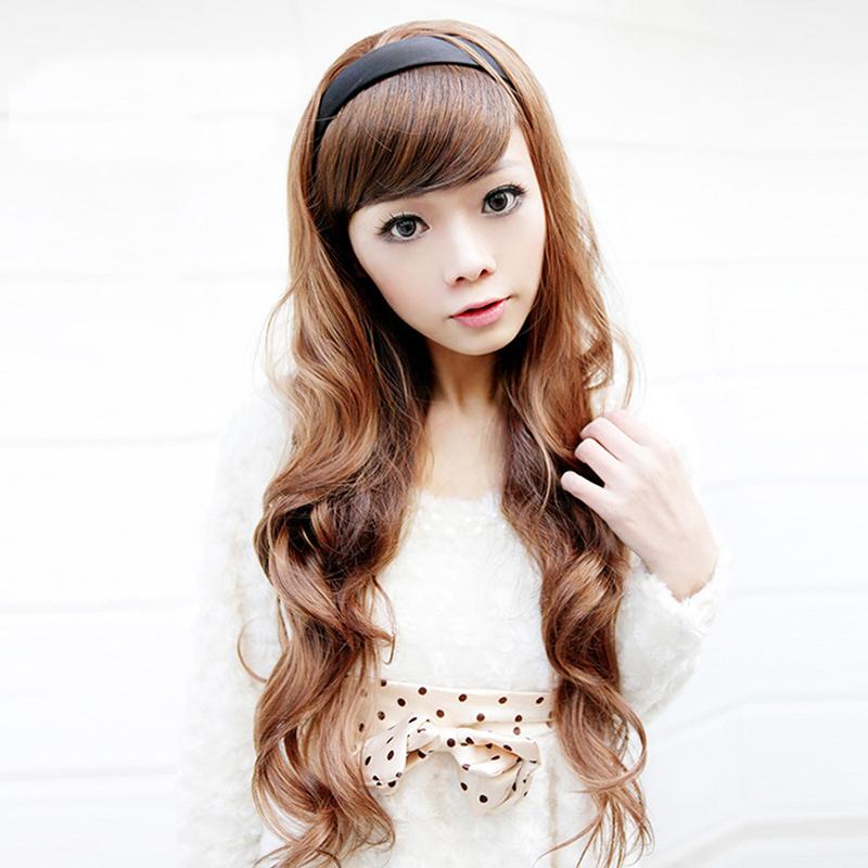 Gracefulvara Women's Synthetic Hair Piece Plaited Elastic Headband Hair Bands Long Wavy Hair Accessories L04729